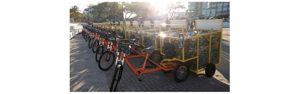 Bicicleta de cargas para catadores.