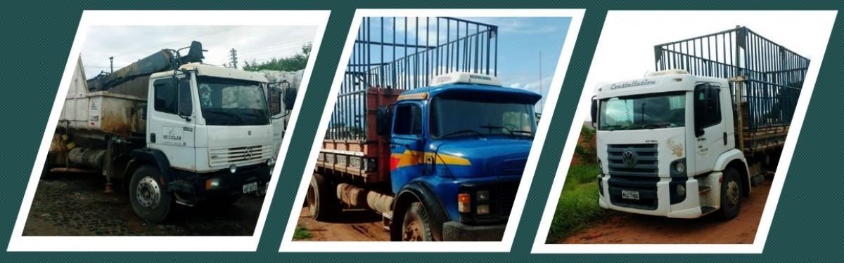 Transporte de matérias primas e sucatas com caminhões próprios